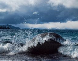 Wave and storm by MartinGollery