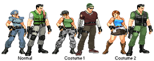 Resident Evil Remake costumes sprite. by juniorbunny