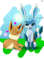 Eevee used charm! by bsh0404