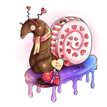 Valentine's Snail by cross-the-swirl