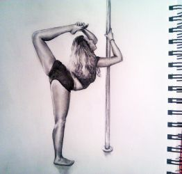 Pole dancing flexibility - shading practise by kateyparr