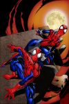 Spider-Man and Spider-Girl   Colourised by Cotterill23