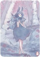Watercolor: Lapine by hiromihana
