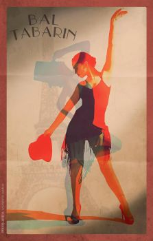 Retro Music-Hall Poster by FrenchGentleman