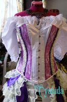 Steampunk Pastel burlesque outfit corset by Cyanida