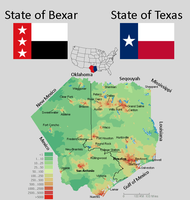 States of Texas and Bexar by LNucleus