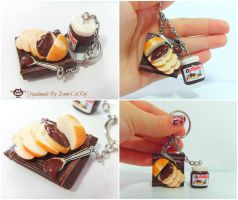 Nutella keychain by SweetIva