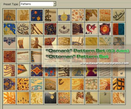 Ottoman Photoshop Pattern Set by noor-maryam