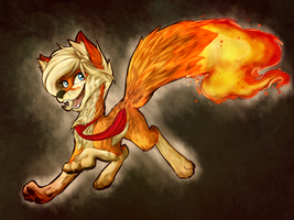 This fox is on fire by RainbowScreen