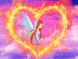 Winx Club Bloom Mythix Wallpaper by TheMgic1275