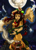 Malinalxochitl, the goddess of Malinalco by nosuku-k