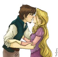 Flynn and Rapunzel by Dralamy