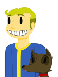 Vault boy and his dog by Bunnywizard121