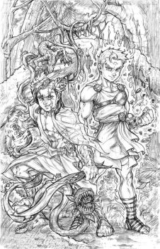 Book of Lyaxia: Adonis and Deimos by CdubbArt