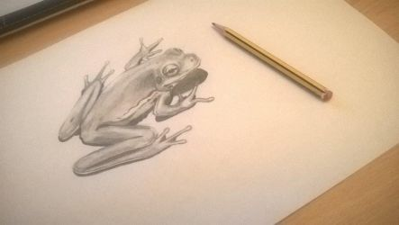 Little Tree Frog Drawing by ZeroFoxFaceless