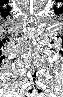 TF MTMTE 17 cover lineart by markerguru