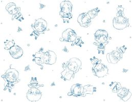 hetalia chibis everywhere by moriarty-party