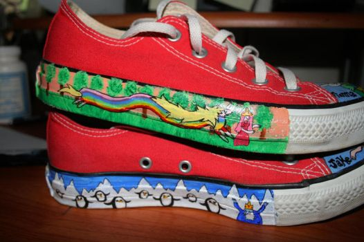 Adventure Time Shoes 2 by Indigo-Maverick
