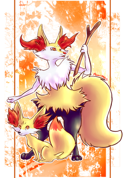 Fox pokemon by Neoro-Chan