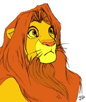 Simba - in color by murr-ma-ing