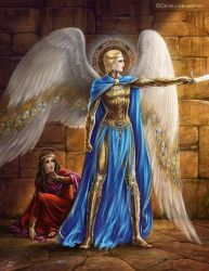 The prophet Daniel and St. Archangel Michael by Develv