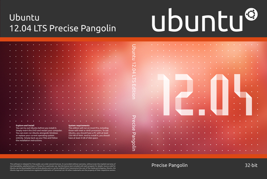 Ubuntu 12.04 DVD Cover Preview by elddes