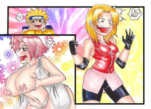 Body Swap Porn Fan Art - ONATaRT 224 10 Tsunade Sakura HeadSwap by ONATaRT