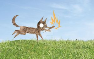Coyote Steals Fire_ textured by ynthamy