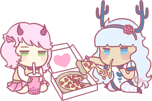 YCH example | personal | Partner Pizza by lesimoon