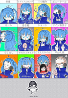 Ene-chan's 12 hairstyles by caught-by-fantasy