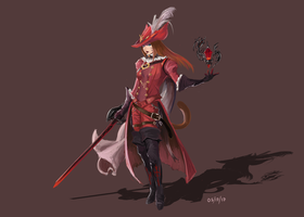 FFXIV: Stormblood Red Mage by Y2LXIII