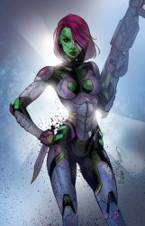 Gamora Guardians of the Galaxy by scroll142