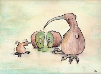 kiwi lessonmaking... by Anarchpeace