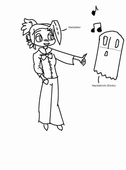 Madstalker and Napstablook. by Zellyia