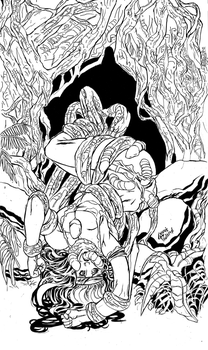 Planet Sexta: Savage Symbiosis - Cover pencil by undergrace777