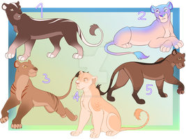 OPEN-Lioness Adopt Batch by Katez-Adopts