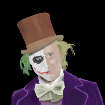The Joker but a little bit 'Wilder' by DragonJarod