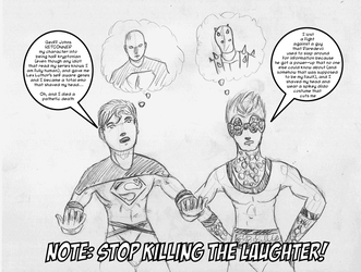 Superboy And Speedball Talk by ChaosBurnFlame