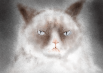 ThoughtART Drawing: Grumpy Cat