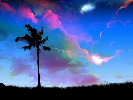 Palm Tree Dreams by kandiart