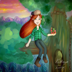 Wendy: Gravity Falls by KittyCatRainbow