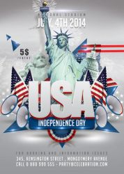 Usa July 4th American Independence Day by n2n44