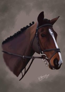 Horse portrait commission by MzJekyl