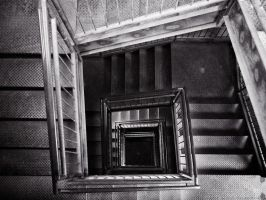 Silo Stairs - Roselle Park (850nm IR) by KBeezie