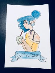 Coffee Time at the Diner by DigbyDaisy