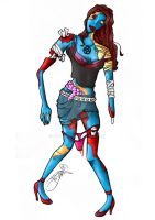 Zombie Girl coloured by Pawloo