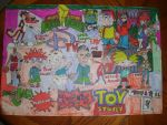 90s Classic Cartoon Movie TV Show Drawing Part 2 by NWeezyBlueStars23