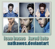 Icon bases - Jared Leto by Natkawes