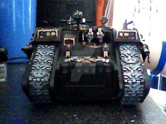 Death Knight Chapter Landraider Tank (Front) by AlexanderDeath