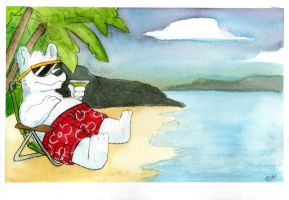 Watercolor 05: Polarbear Beach by LilBruno